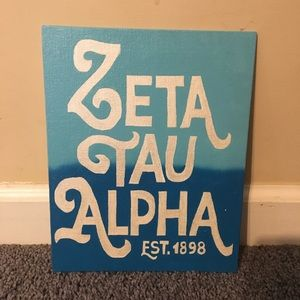 Other - 8x10 Zeta Tau Alpha blue ombré canvas
